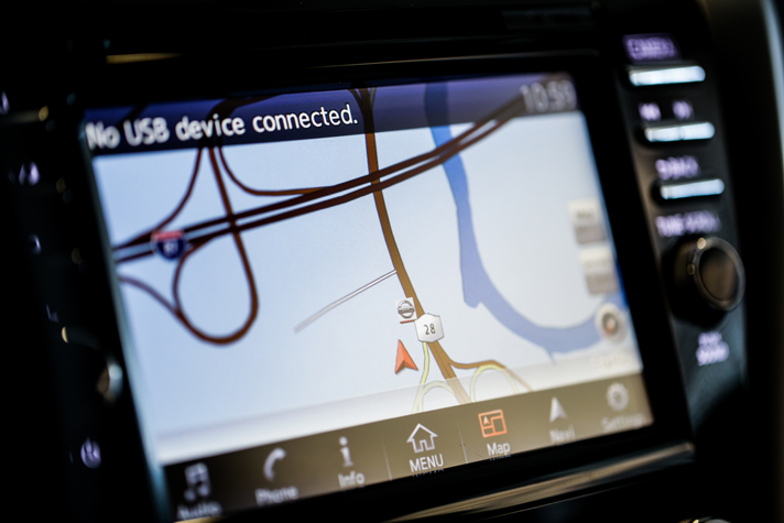 Make loosing your way a think of the past with available Navigation