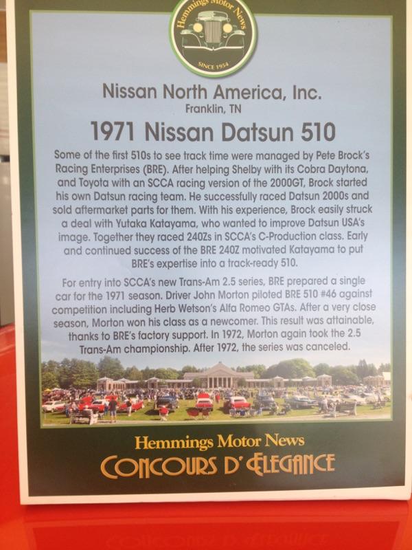 1971 Nissan Datsun 510 Story