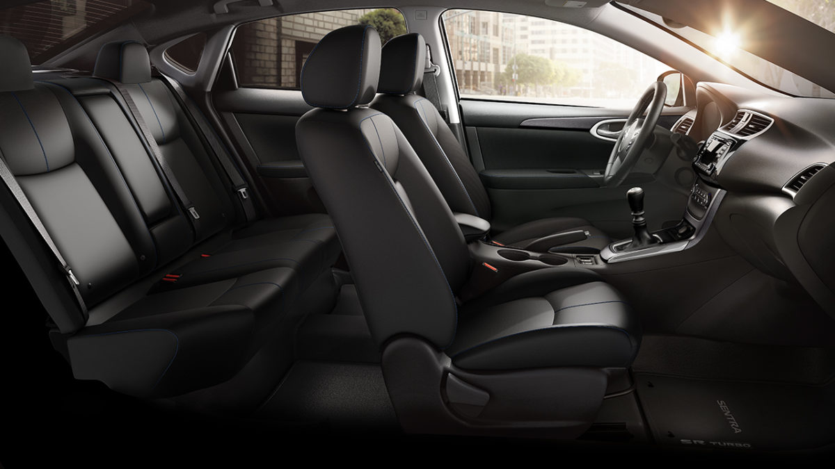 Nissan Sentra charcoal cloth interior