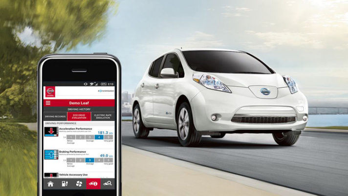 2017 Nissan LEAF NissanConnect mobile apps