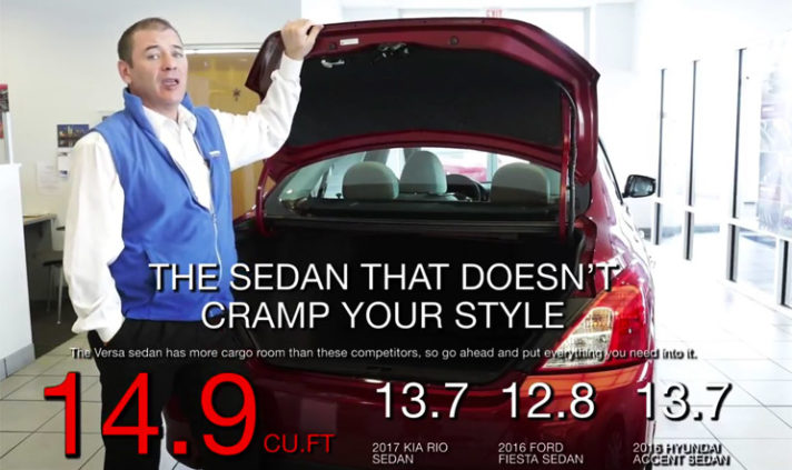 2017 Nissan Versa Sedan Cargo Space