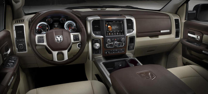 rugged power of a Ram truck meets the comfort of a luxurious and technological interior