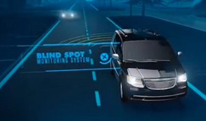 Chrysler SafetyTec Package offers available Blind Spot Monitoring System.