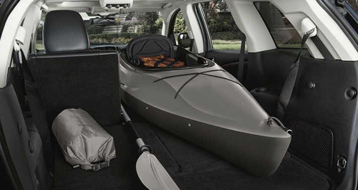 67 Cubic Feet Storage 2015 Dodge Journey Canoe inside