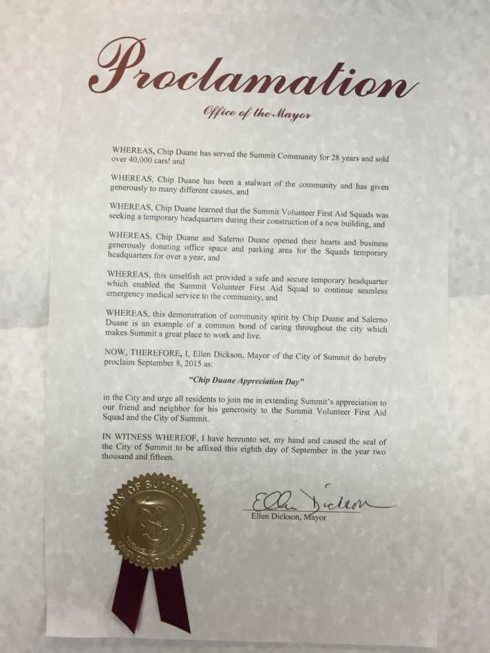 Chip Duane Appreciation Day