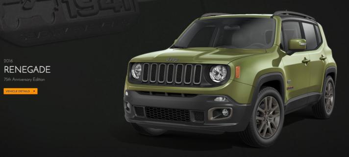 2016 Jeep Renegade 75th Anniversary Edition NJ