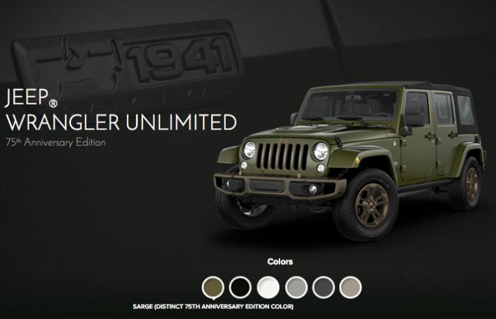 2016 Jeep Wrangler Unlimited 75th Anniversary NJ